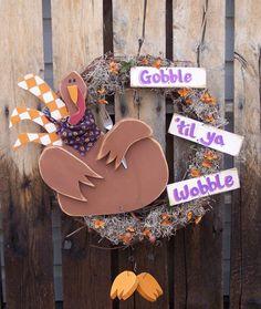 Turkey Wreath Wood Craft Pattern for Fall by KaylasKornerDesigns, $7.50