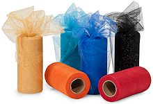 Nashville Wraps is my favorite place to purchase tulle. Their glitter tulle will give your gifts that extra sparkle! Just $3.49 a roll! Other places sell these for close to $6 a roll.