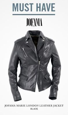 Our MUST HAVE item of the week! The Marie London Leather Jacket by #Jofama #leatherjacket #leather