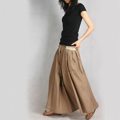 Pocket Long Skirt