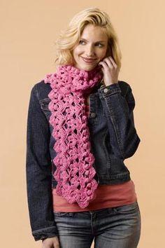 Cashmere Breeze Crochet Shells Scarf free pattern