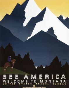 Montana - WPA Poster