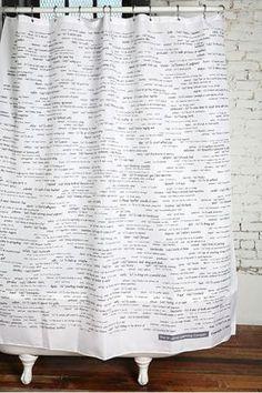 SAT vocab shower curtain