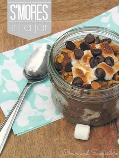 S'mores in a Jar.  So good and easy to make!  Great for picnics!