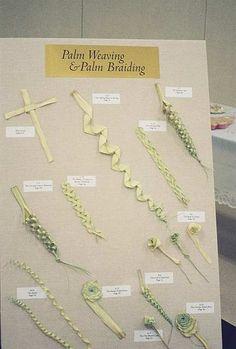Palm Sunday palm cross folding weaving braiding