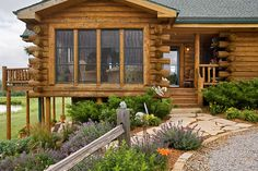 Log Home Photos | Prairie Song Home Tour › Expedition Log Homes, LLC
