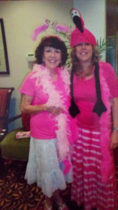 Pink Flamingo Gathering Party! Decoration ideas and more. party decoration ideas, pink flamingos