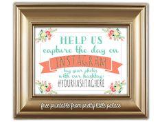 Free Printable Instagram Sign for Wedding