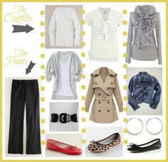Improving Me in 2013: Day 14 {More Outfit Inspiration} Nine outfits assembled with basic wardrobe essentials.