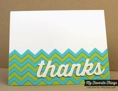 Chevron Stripes Die-namics, Many Thanks Die-namics - Julie Dinn #mftstamps