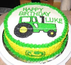 Tractor Cake: This tractor cake was for our one year old. He had to share his birthday party with his older brother, so he didn't have much say in the theme. It's a