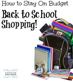 Back to School Shopping on a Budget | 5 Tips to get everything you need without spending too much money!