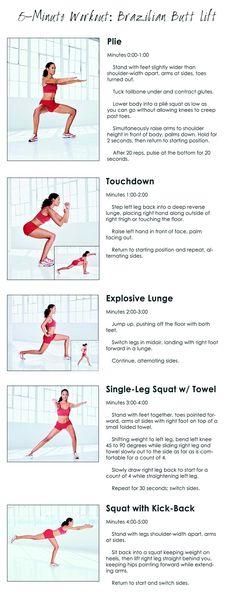 5-Minute Brazilian Butt Workout