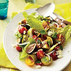 Vegetable and Green Salad Recipes   Fig, Tomato, and Sweet Onion Salad   CookingLight.com