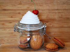 White Cupcake Topped Clip Jar. These Cupcake Clip Jars Are The Perfect Gift Idea.