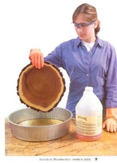 how to preserve wood slices/bases for centerpiece
