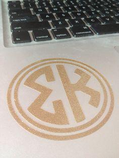 Sigma Kappa Circle Monogram by BowsAndClips on Etsy, $5.00
