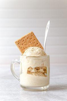 Graham Cracker Infused Ice Cream @dessertfortwo