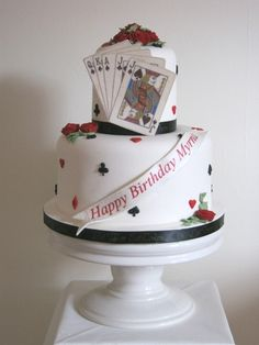 Deck of cards cake . . . from Let Them Eat Cakes.