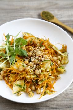 carrot, chickpea salad