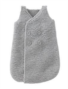 Babies Knitting Patterns Sleepsack for Boy Pattern