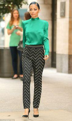 Stepping out: Nicole Richie was seen leaving the Four Seasons Hotel in New York City on Wednesday making her way over to the The View for a guest appearance