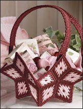 Plastic canvas basket