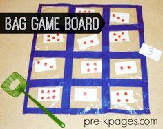 Easy DIY Bag Game Board for Preschool and Kindergarten