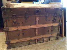 My sister & brothers just got me an Antique trunk, like this one, for my birthday!! :) LOVE!