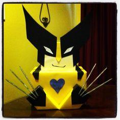 Caleb's Wolverine Valentine Box.
