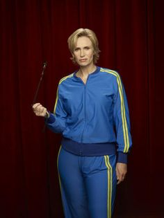 """Sue Sylvester (Jane Lynch) terrifies the kids on """"Glee"""" in workout suits like this one. Wear if with a wig and you can do the same."""