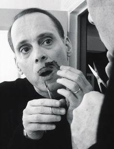 John Waters grooming his famous mustache MoreJohn Waters Mustache