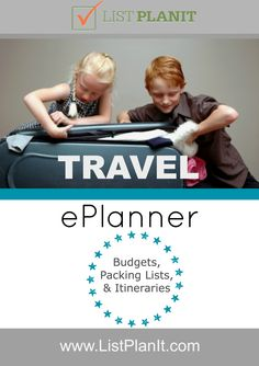 Travel ePlanner: Budgets, Packing Lists, & Itineraries