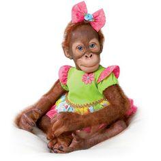 Simon Laurens Mollie the Orangutan Realistic Toddler Doll by Ashton Drake « Game Searches