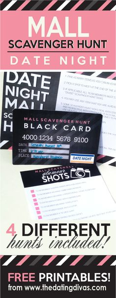 This mall scavenger hunt date night looks like a blast - it will be hard to top for sure!