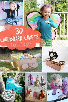 30 cardboard box crafts for kids- lots of fun ideas!