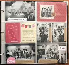 Monthly Moments Team Tacy Layout by Heather Nichols for Papertrey Ink (February 2014)