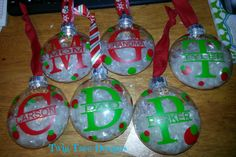 More personalized Ornaments !