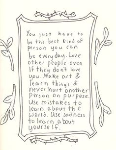 Be the Best Person You Can Be