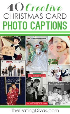 Seriously SO many clever wording and caption ideas for holiday photo cards. Super cute. Many of these I've never seen before. www.TheDatingDivas.com