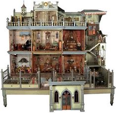 Inside view of Mexican Mansion doll house