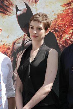 Anne Hathaway - short hair!
