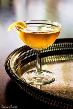 Autumn Ash: 2 ounces blended scotch whiskey 1 ounce apple brandy ¼ ounce elderflower liqueur 2 dashes orange bitters 1 lemon twist