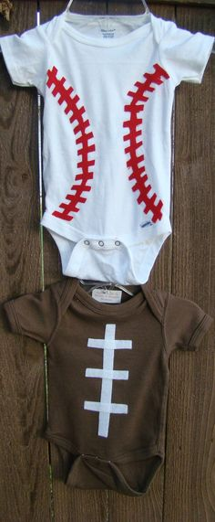 baseball / football onesie