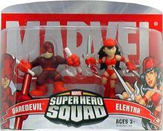 Marvel Superhero Squad Daredevil & Elektra Mini Figure 2-Pack super hero, mini figur, superhero squad, marvel superhero, da marvel, figur 2pack, favorit toy, boneco da, marvelici super