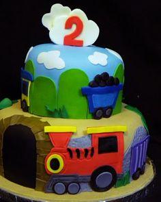 Train Birthday Cake birthday parti, train cakes, birthdays, birthday idea, train birthday, 2nd birthday, cake designs, trains, birthday cakes