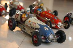 Antique toy car race
