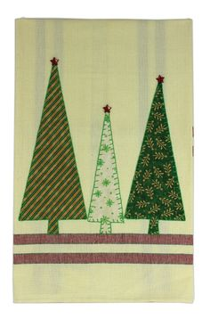 Crafts Direct Project Idea: Christmas Trees Tea Towel
