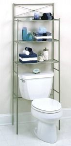 Make more shelving and storage space in a really handy place, above your toilet! This is especially great for small bathrooms {featured on Home Storage Solutions 101}