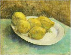 Vincent van Gogh Painting, Oil on Canvas Paris: March - April, 1887 Van Gogh Museum Amsterdam, The Netherlands, Europe F: 338, JH: 1237 Van Gogh: Still Life with Lemons on a Plate Van Gogh Gallery